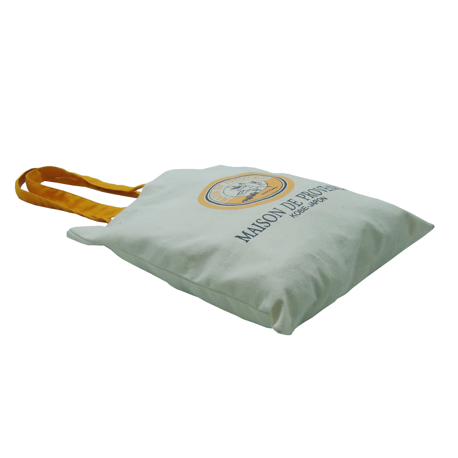 8 Oz Natural Canvas Tote Bag With Dyed Handle