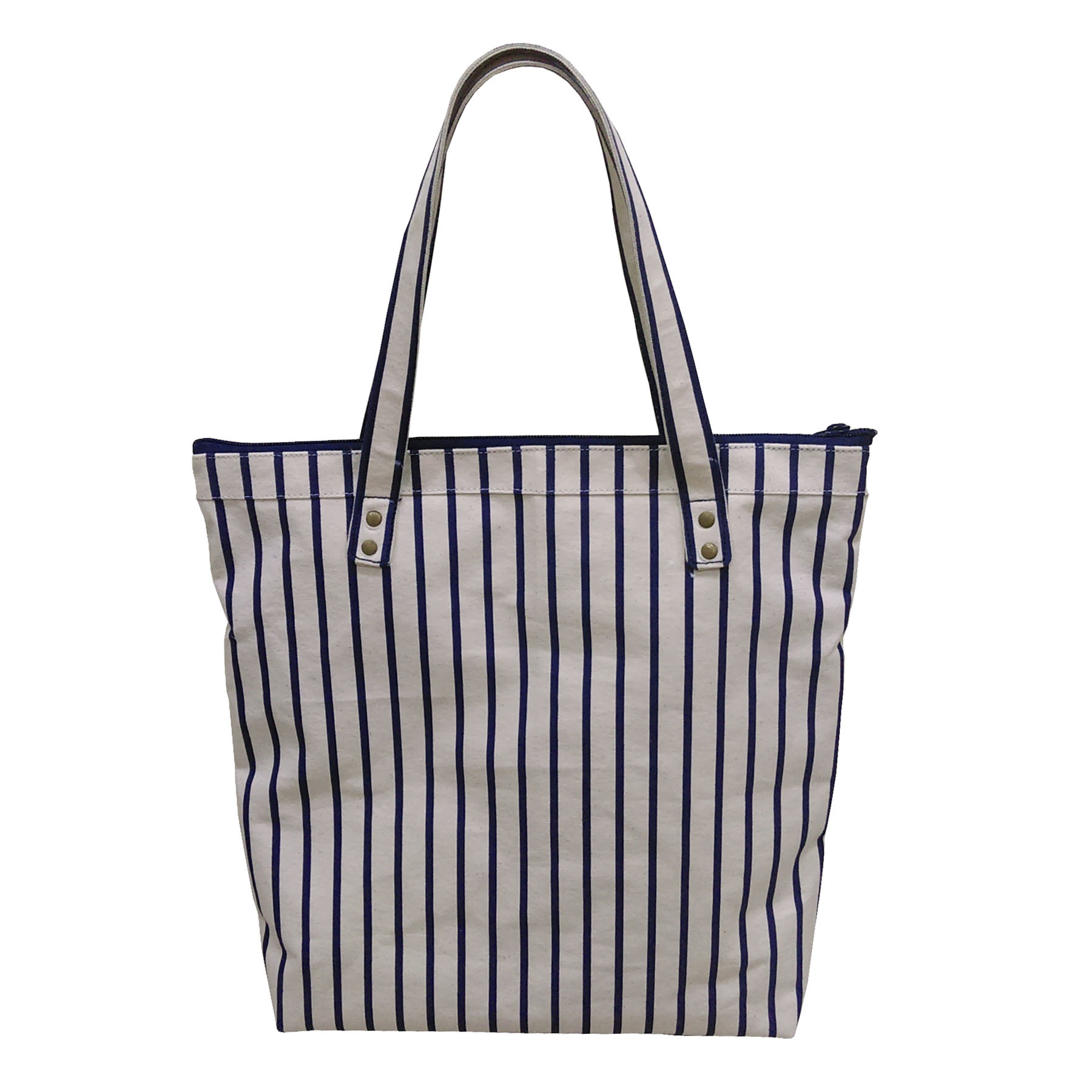 12 Oz Natural Canvas Tote Bag With Inside Polyester Lining & Canvas Handle