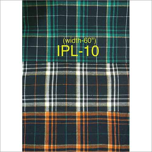 Check Dyed Shirt Fabric
