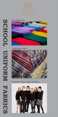 School Grey Serge Fabric