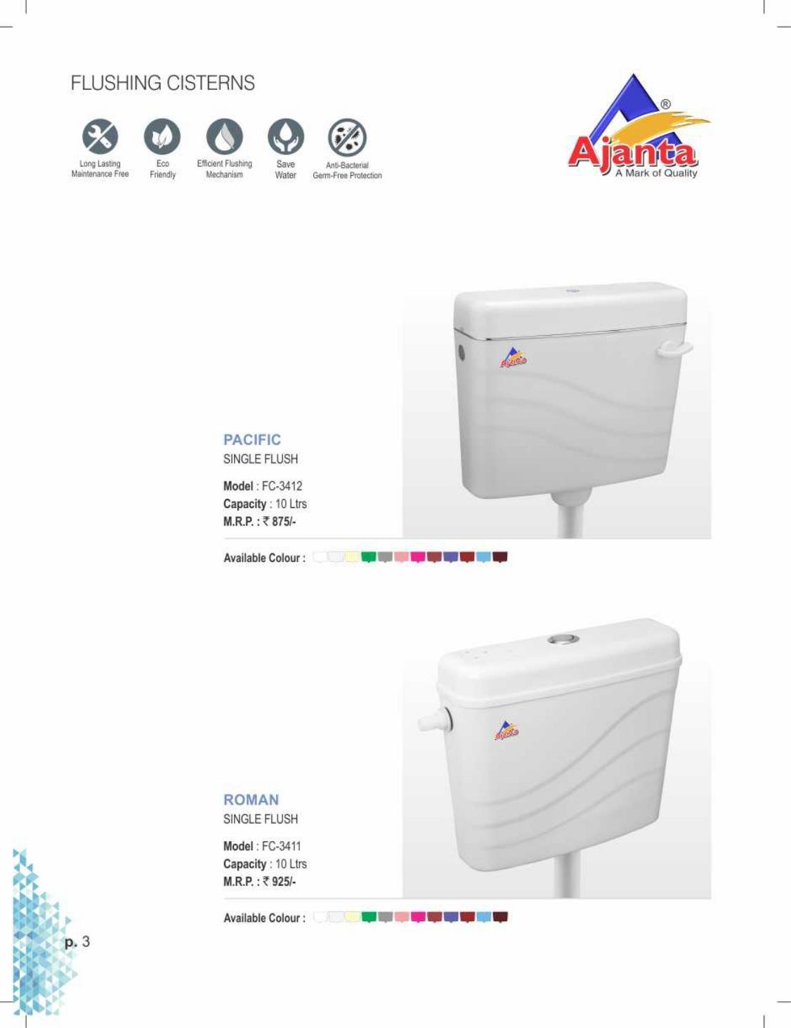 Pecific Single Cistern