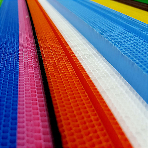 Coloured PP  Corrugated Sheet