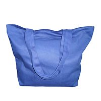 12 Oz Dyed Canvas Tote Bag With Zipper Pocket & One Color Print