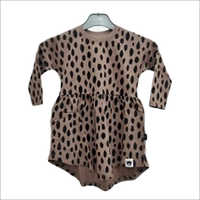 Girls Brown AOP Swrill Dress