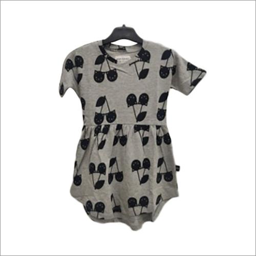 Grey Melange AOP Swrill Dress