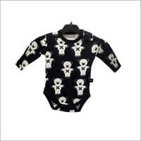 Baby Girls Black AOP Bodysuit