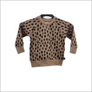 Boys Brown Printed Sweaters