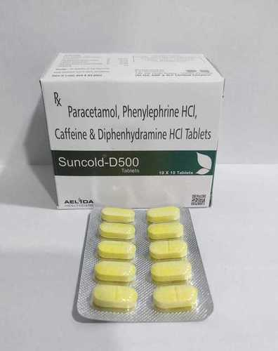 Paracetamol Phenylephrine HCI Caffeine & Diphenhydramine HCI Tablet