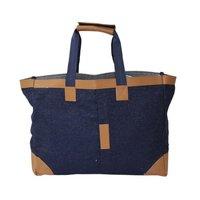 12 Oz Denim Bag With Pp Web Handle & Front Zip Pocket