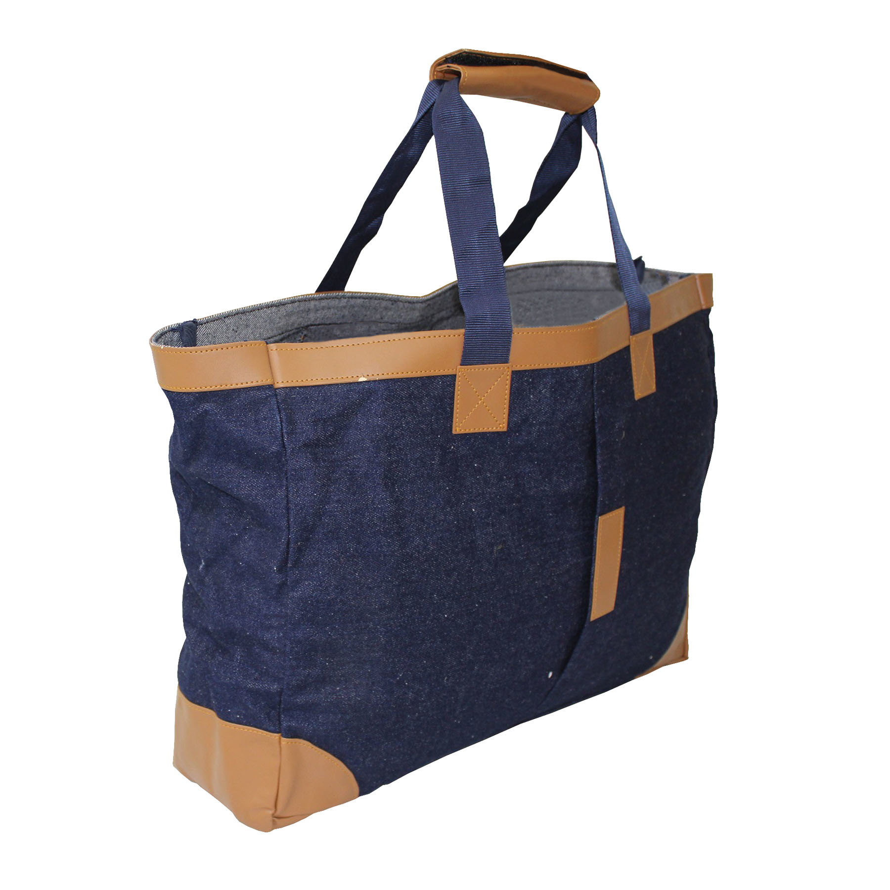 Denim Bag With PP Web Handle