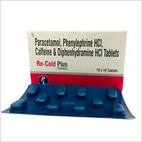 Paracetamol Phenylephrine HCL Caffeine And Diphenhydramine HCL Tablets