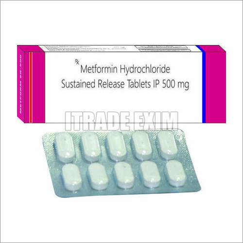 500 mg Metformin Hydrochloride Sustained Release Tablets IP