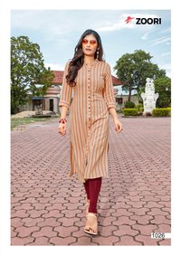 Akshara Vol-3 Rayon Printed Kurti Set