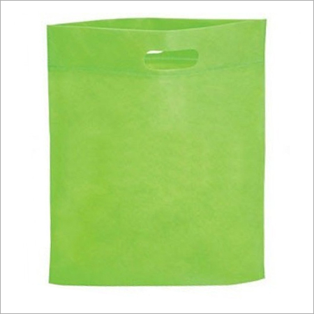 Green D Cut Non Woven Bag
