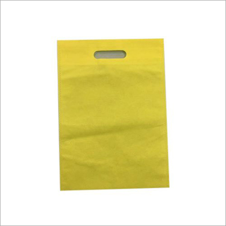 Yellow D Cut Non Woven Bag