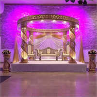 Crystal Pillars Wedding Mandap