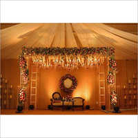 Metal Wedding  Mandap with Flowers