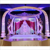 Decorative Tusk Wedding Mandap