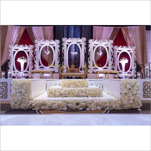 Elegant Wedding Reception Stage