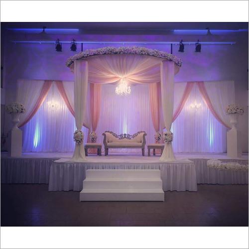 Elegant Fabric Drape Wedding Stage