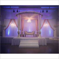 Elegant Fabric Drape Wedding Stage