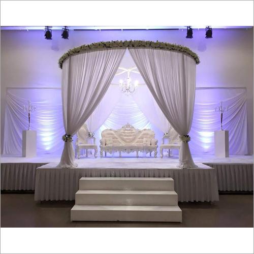 Decorative Fabric Drape Wedding Stage Backdrops