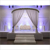 Decorative Fabric Drape Wedding Stage with Backdrops