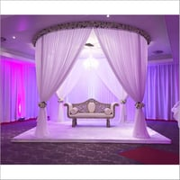 Fabric Drape Wedding Stage with Backdrops