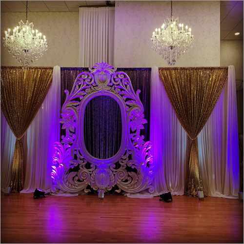 Oval Fiber Frame Wedding Stage