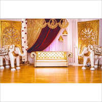 Wedding Stage with Elephant Statue