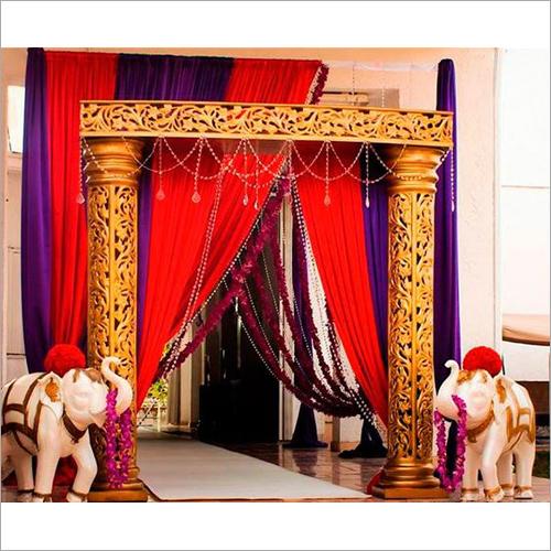 Carving Pillar Wedding Entry Gate