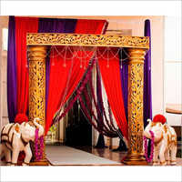 Carving Pillar Wedding Entry Gate