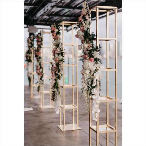 Metal Flower Pillars
