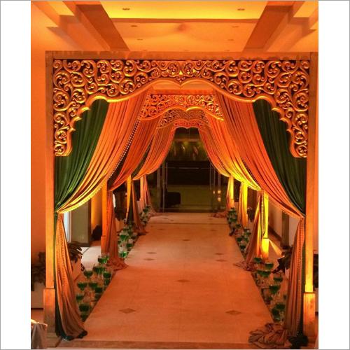 Wedding Entry Fiber Gate with Drape