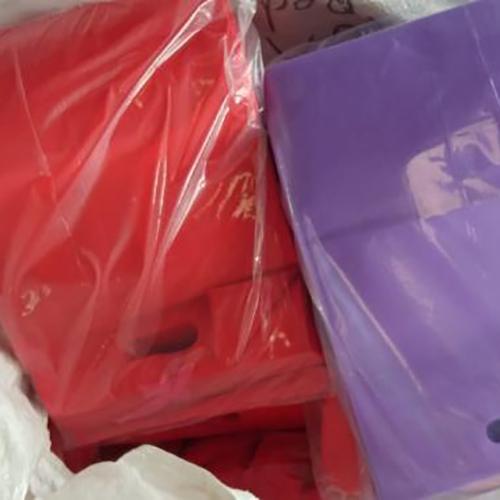 Red & Purple Non Woven Bags