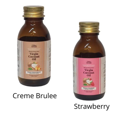 Virgin Coconut Oil Creme Brulee & Strawberry, 100ml