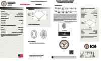Oval Brilliant Cut 1.06ct D VS1 HPHT IGI Certified Lab Grown Diamond TYPE2 447089619
