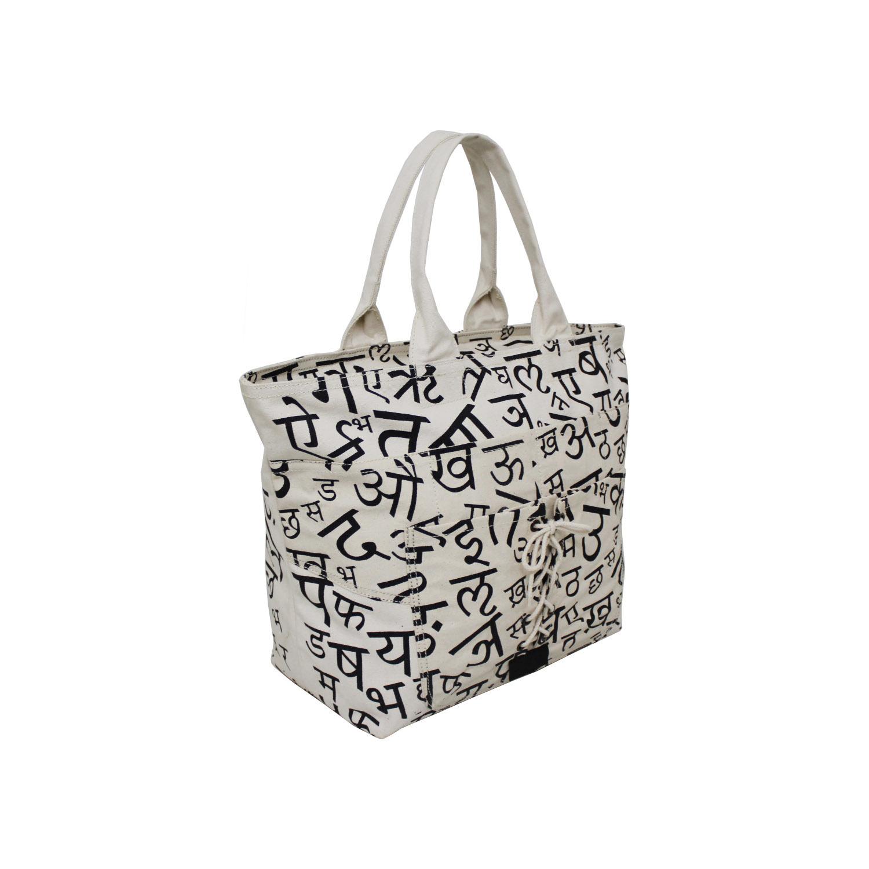 20 Oz Natural Canvas Tote Bag With Zip Closure
