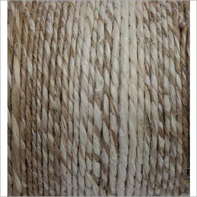 Hand Spun Jute Yarn 2 Ply Gray And Bleach Blended
