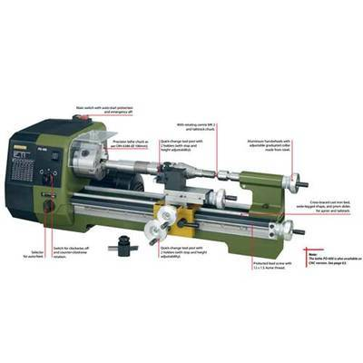 PD 400 Precision Lathe