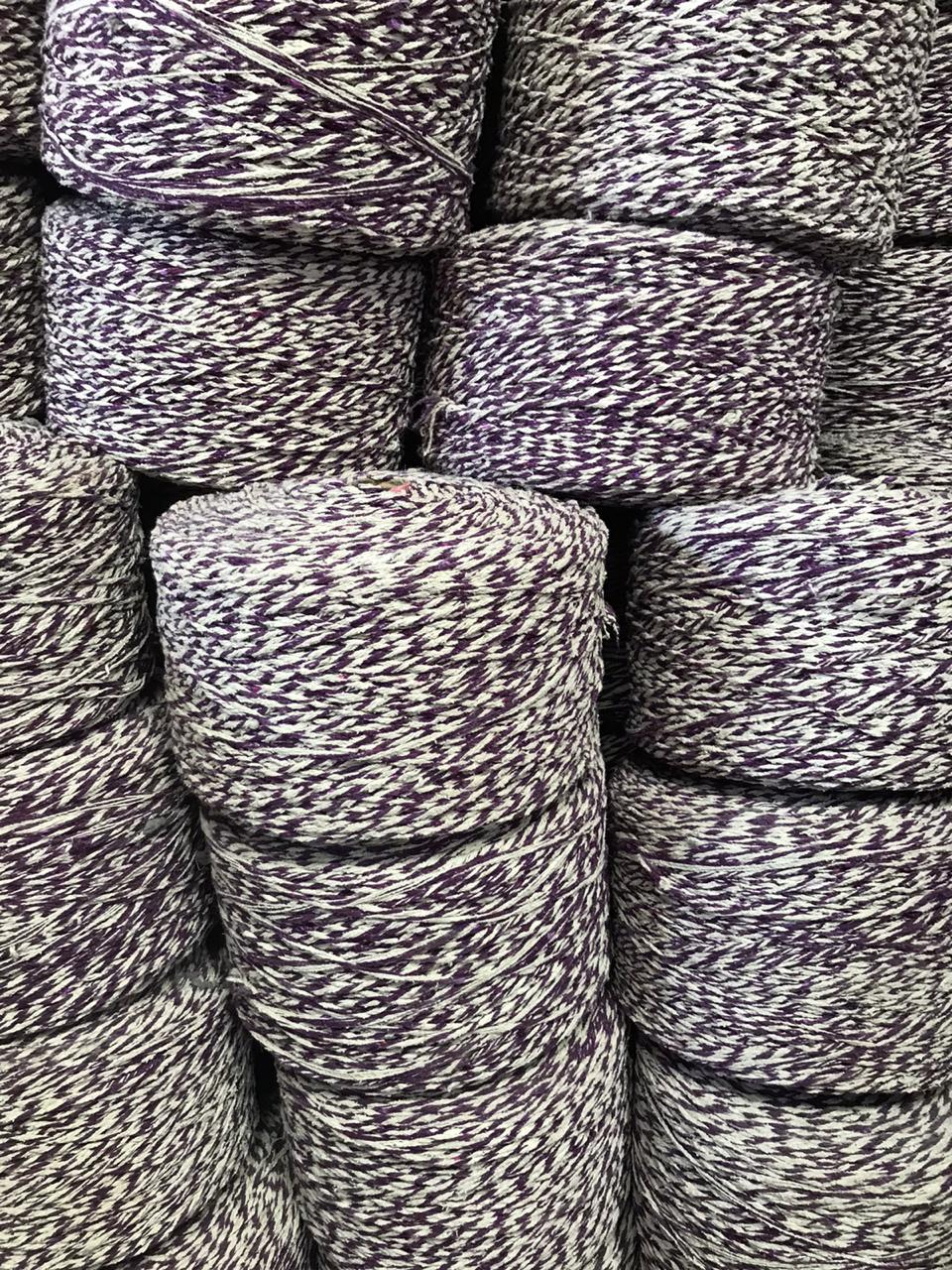 Purple White Yarn