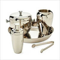 Barset Cocktail Shaker Double Wall Ice Bucket With Tong Wine Chiller And Champagne Bucket