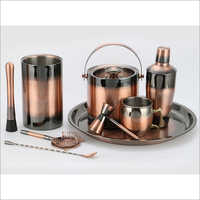 Barset Cocktail Shaker Double Wall Ice Bucket Bar Tray Wine Chiller, Mule Mug & 4 Pcs Bar Tools