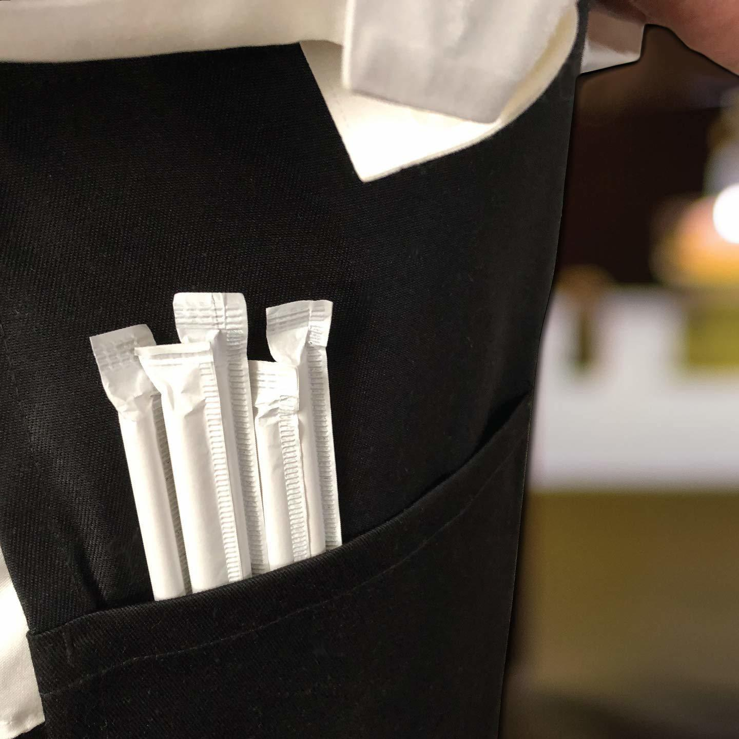 FDA Approved Paper Straws - Individually Wrapped Dye Free, Size  8mm x 200mm