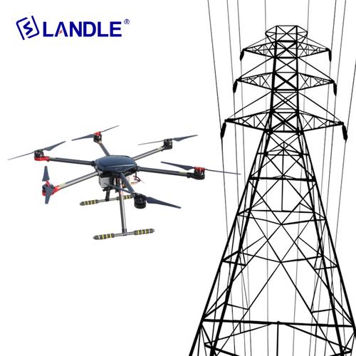Hypld-6 6 Spirals Wing Uav Drone For Transmission Line