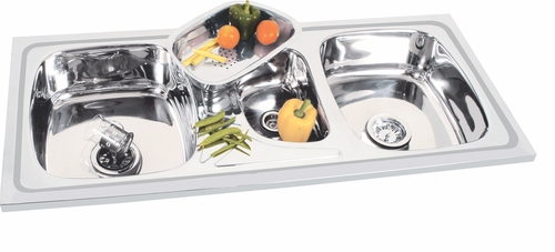 Sigle Sink with Vegetable Bowl Jali