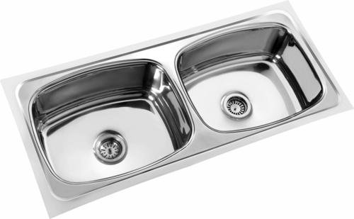 Oscar Double bowl Steel sink
