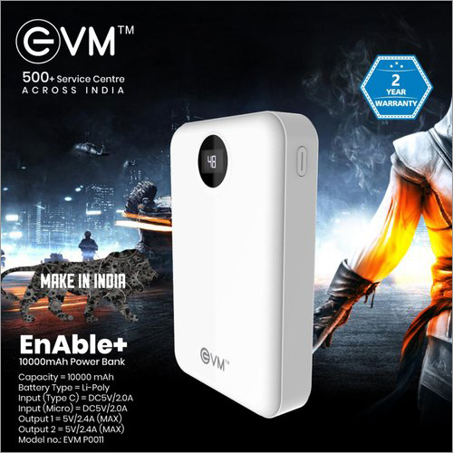 EVM Enable+ 10000mAh Power Bank