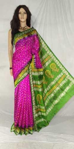 Art Silk Screen Print saree