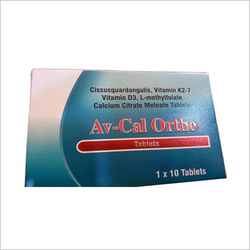 Cissusquardangulis Vitamin K2-7 Vitamin D3 L-Methylfolate Calcium Citrate Meleate Tablets